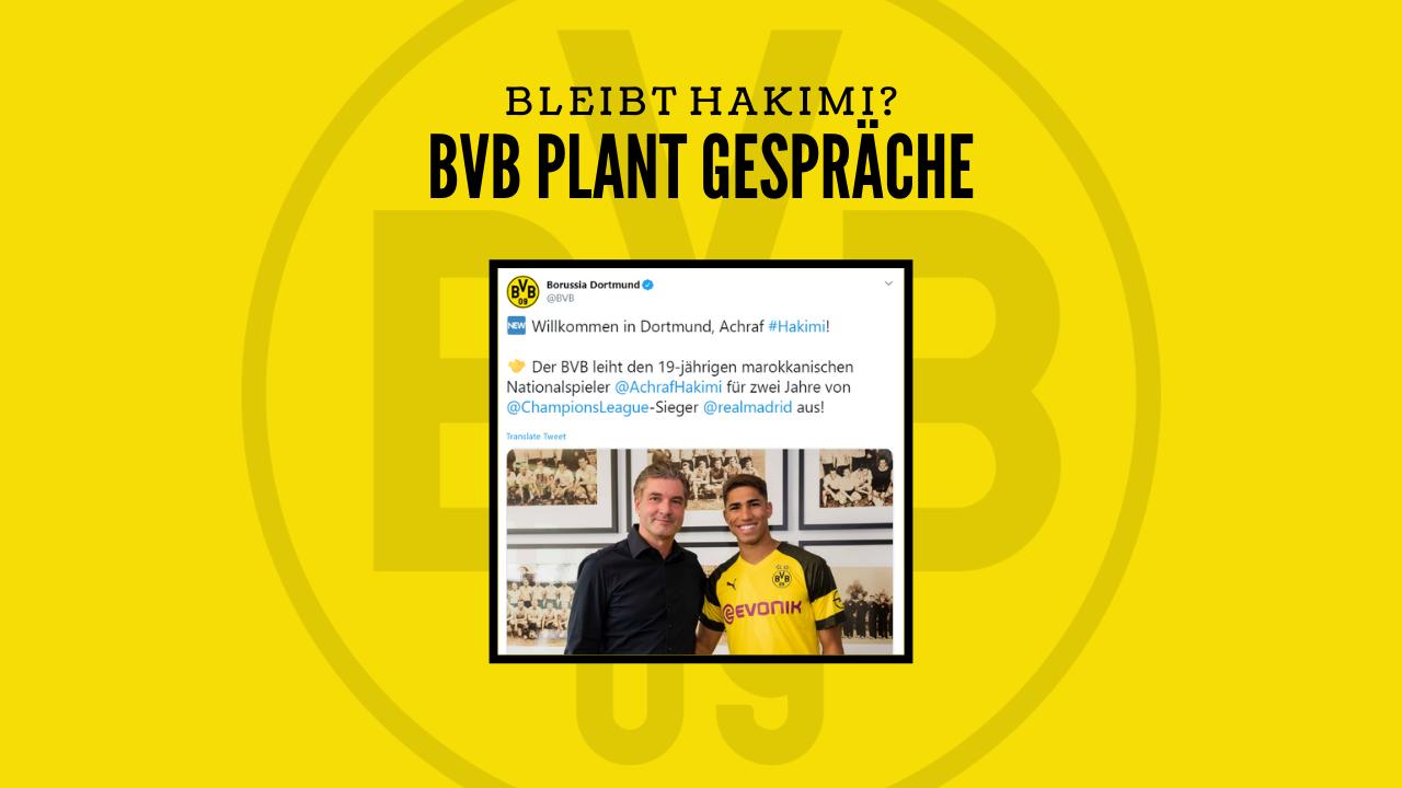 Bleibt Hakimi beim BVB? – Borussia Dortmund plant Gespräche