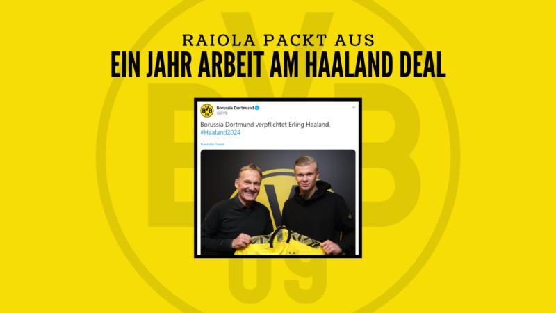 """Raiola: """"Mit dem Haaland-Deal war ich fast ein Jahr beschäftigt"""""""