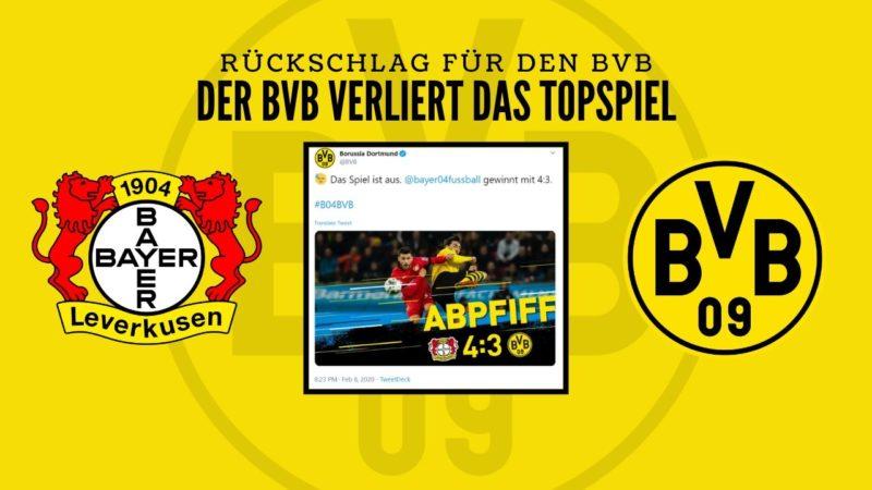 Rückschlag für den BVB – Spielfeldanalyse
