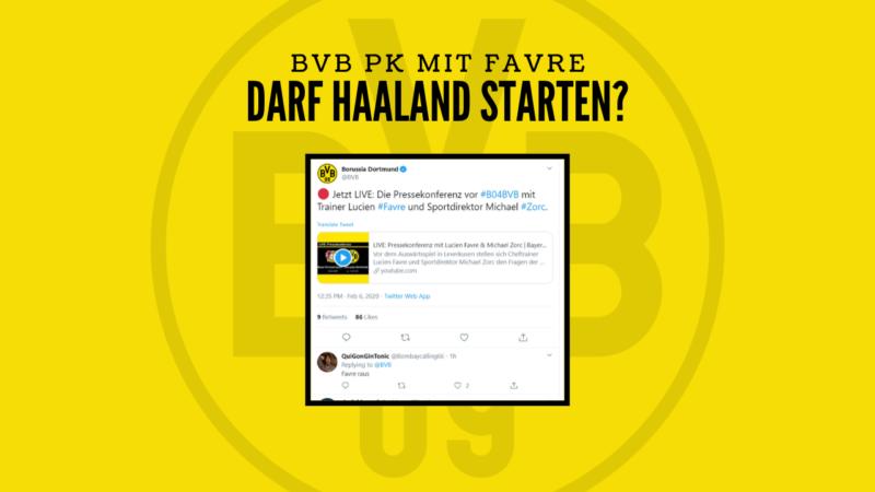 Haaland in der Startelf? – BVB PK Highlights