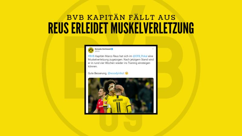 Schock für den BVB – Kapitän Reus ist verletzt