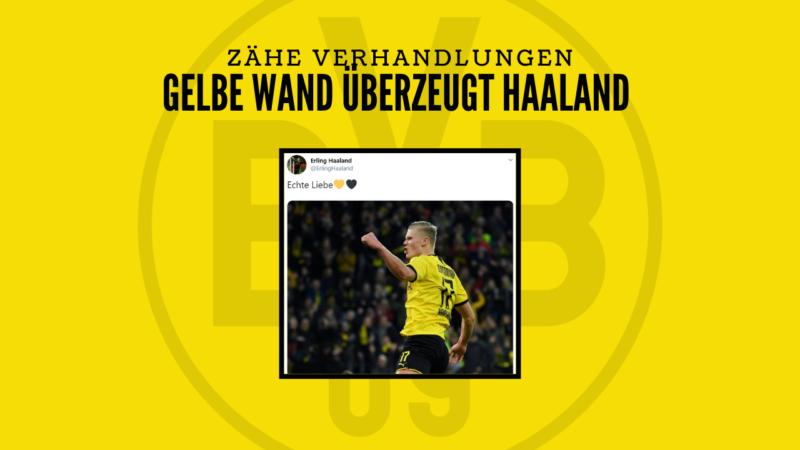 Zähe Verhandlungen: Die Gelbe Wand überzeugt Haaland vom BVB