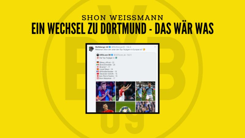 Top-Torjäger Shon Weissmann will nach Dortmund