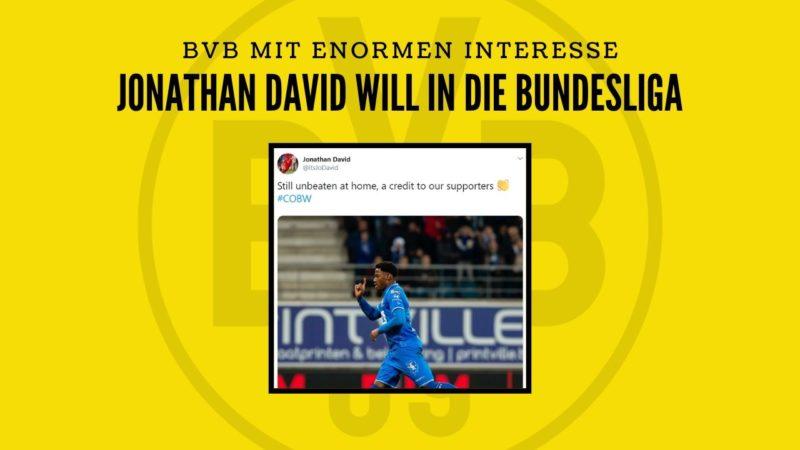 Jonathan David will in die Bundesliga! – BVB mit enormen Interesse