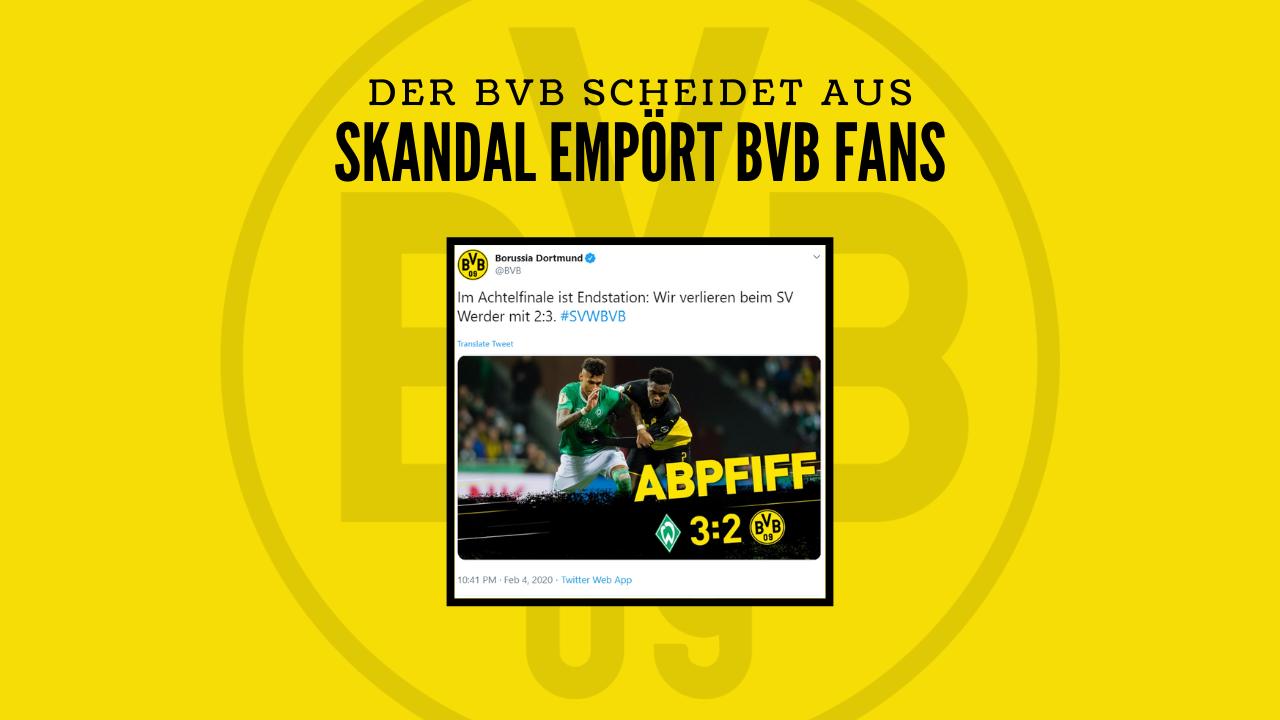 Skandalöse Schiedsrichterentscheidung besiegelt Ausscheiden – Borussia Dortmunds neuer Angstgegner Werder Bremen?