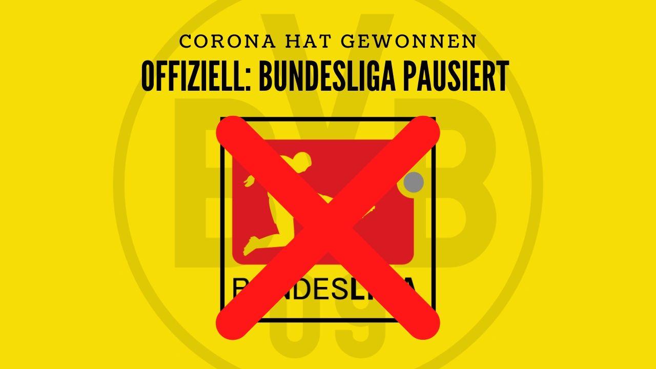 Wegen Corona: Bundesliga pausiert ab Dienstag!