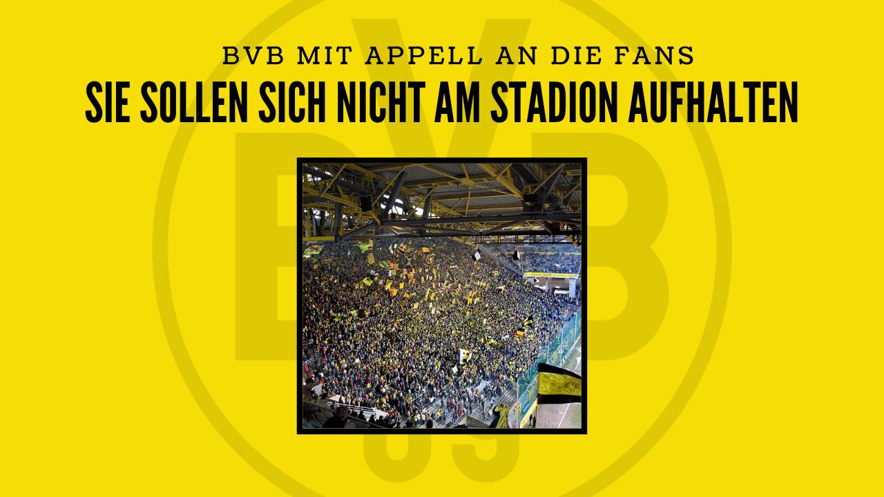 Borussia Dortmund mit Appell an die Fans