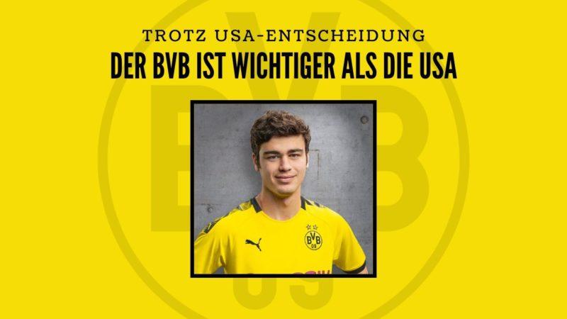 BVB-Talent Giovanni Reyna entscheidet sich für die USA!